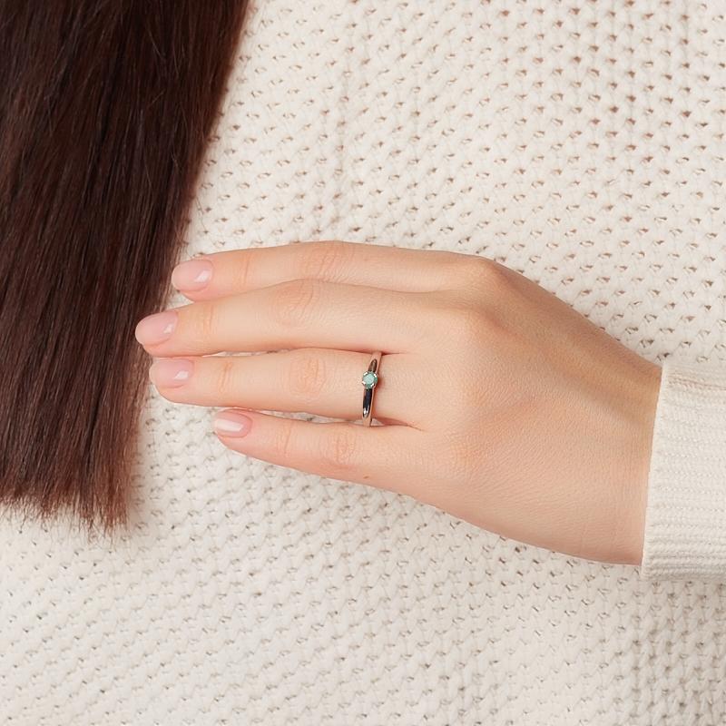 Кольцо изумруд Колумбия (серебро 925 пр. родир. бел.) огранка размер 16,5