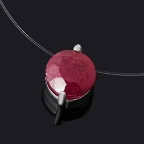Колье рубин Мьянма (серебро 925 пр. родир. бел.) огранка 41 см