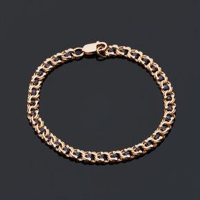 Браслет сапфир черный Индия (серебро 925 пр. позолота) огранка 19 см