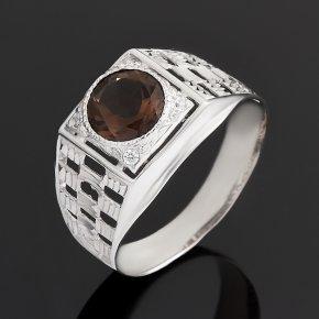 Кольцо раухтопаз Бразилия (серебро 925 пр. родир. бел.) огранка размер 21
