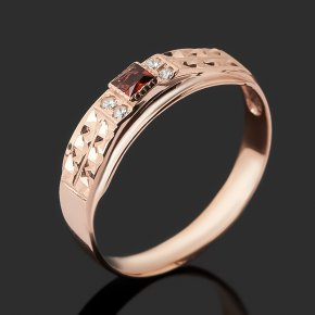 Кольцо гранат альмандин Индия (серебро 925 пр. позолота) огранка размер 19,5