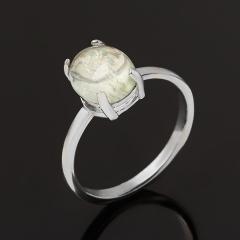 Кольцо аквамарин Россия (серебро 925 пр. родир. бел.) размер 18