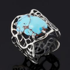 Кольцо бирюза Казахстан (серебро 925 пр. оксидир.) размер 18,5