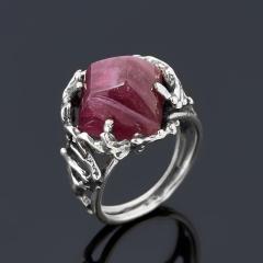 Кольцо турмалин розовый (рубеллит) Россия (серебро 925 пр. оксидир.) размер 18,5
