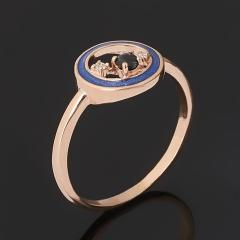 Кольцо сапфир Индия (серебро 925 пр. позолота, эмаль) огранка размер 17,5