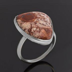 Кольцо яшма уральская Россия (нейзильбер) размер 17,5