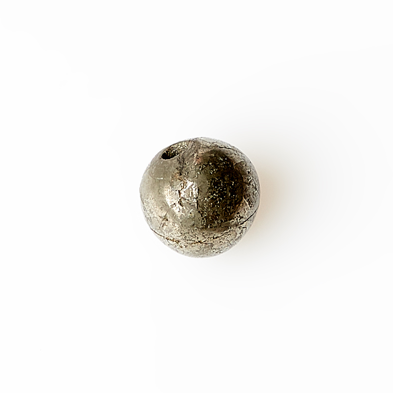 Бусина пирит Перу шарик 6 мм (1 шт)