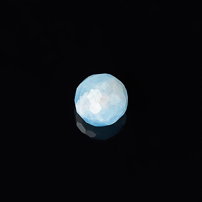 Бусина аквамарин Бразилия шарик 7 мм огранка (1 шт)