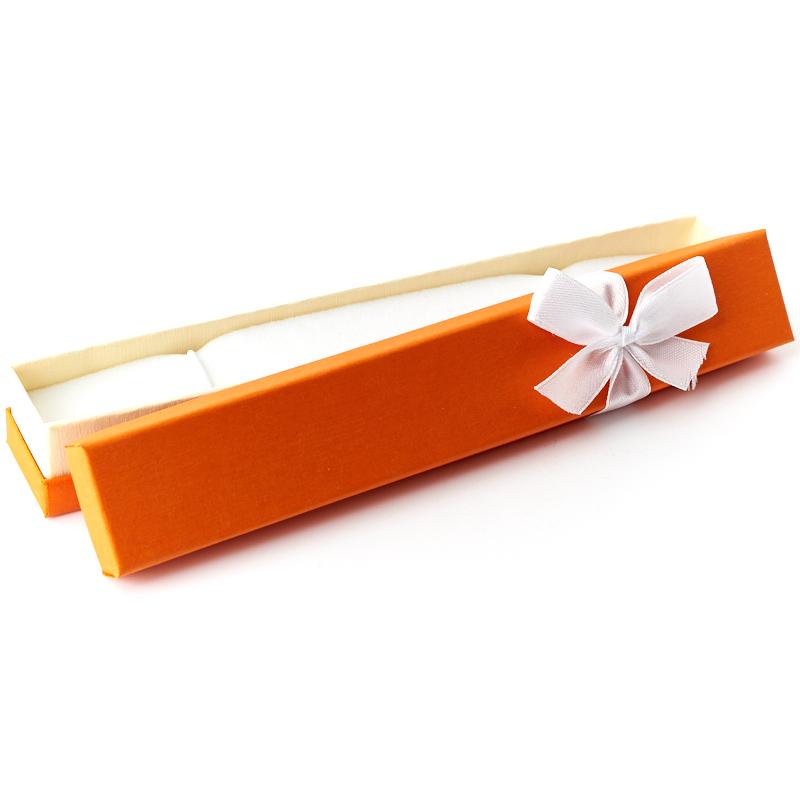 Подарочная упаковка (картон) под браслет/цепь (футляр) (микс) 185х30х25 мм