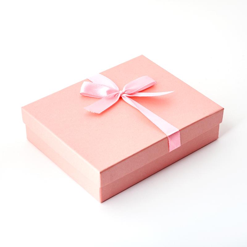 Подарочная упаковка (картон) под комплект (кольцо, серьги, цепь, кулон) (коробка) (розовый) 135х110х35  мм