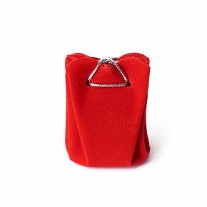 Подарочная упаковка (текстиль) универсальная (мешочек объемный) (красный) 60х45х45 мм
