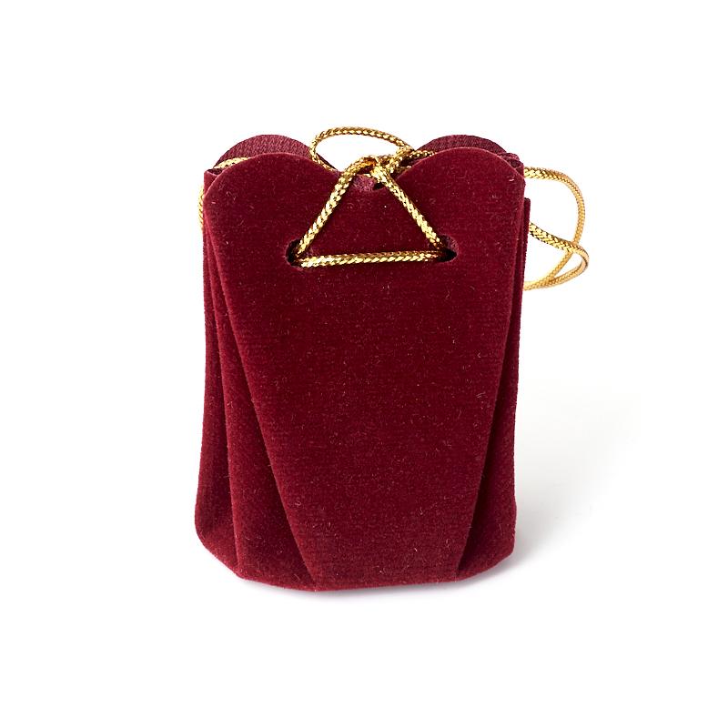Подарочная упаковка (текстиль) универсальная (мешочек объемный) (бордовый) 60х45х45 мм