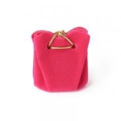 Подарочная упаковка (текстиль) универсальная (мешочек объемный) (фуксия) 40х35х35 мм