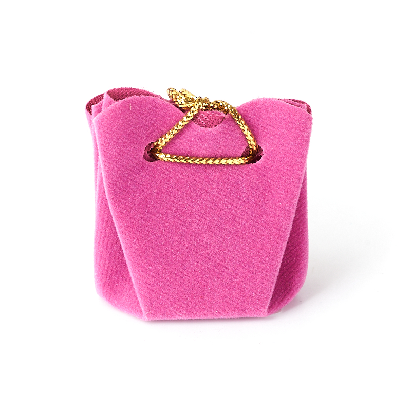 Подарочная упаковка (текстиль) универсальная (мешочек объемный) (фиолетовый) 40х35х35 мм