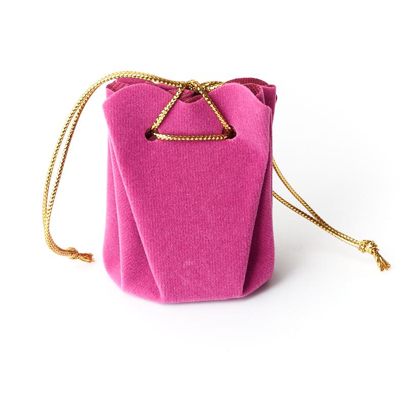 Подарочная упаковка (текстиль) универсальная (мешочек объемный) (фиолетовый) 60х45х45 мм