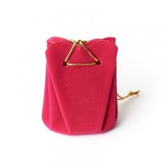 Подарочная упаковка (текстиль) универсальная (мешочек объемный) (фуксия) 60х45х45 мм