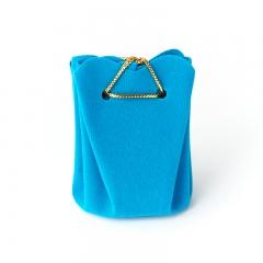 Подарочная упаковка (текстиль) универсальная (мешочек объемный) (голубой) 60х45х45 мм
