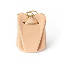 Подарочная упаковка (текстиль) универсальная (мешочек объемный) (бежевый) 60х45х45 мм