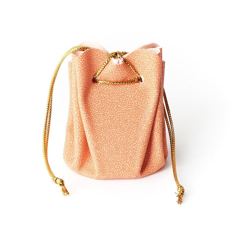 Подарочная упаковка (кожа иск.) универсальная (мешочек объемный) (оранжевый) 60х45х45 мм