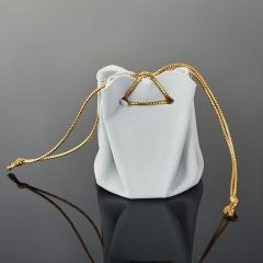 Подарочная упаковка (текстиль) универсальная (мешочек объемный) (серый) 65х45х45 мм