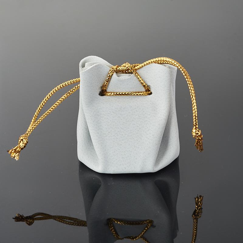 Подарочная упаковка (текстиль) универсальная (мешочек объемный) (серый) 40х35х35 мм
