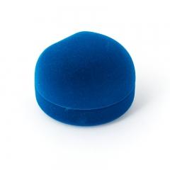Подарочная упаковка (текстиль) под серьги (футляр) (бирюзовый) 50х50х35 мм