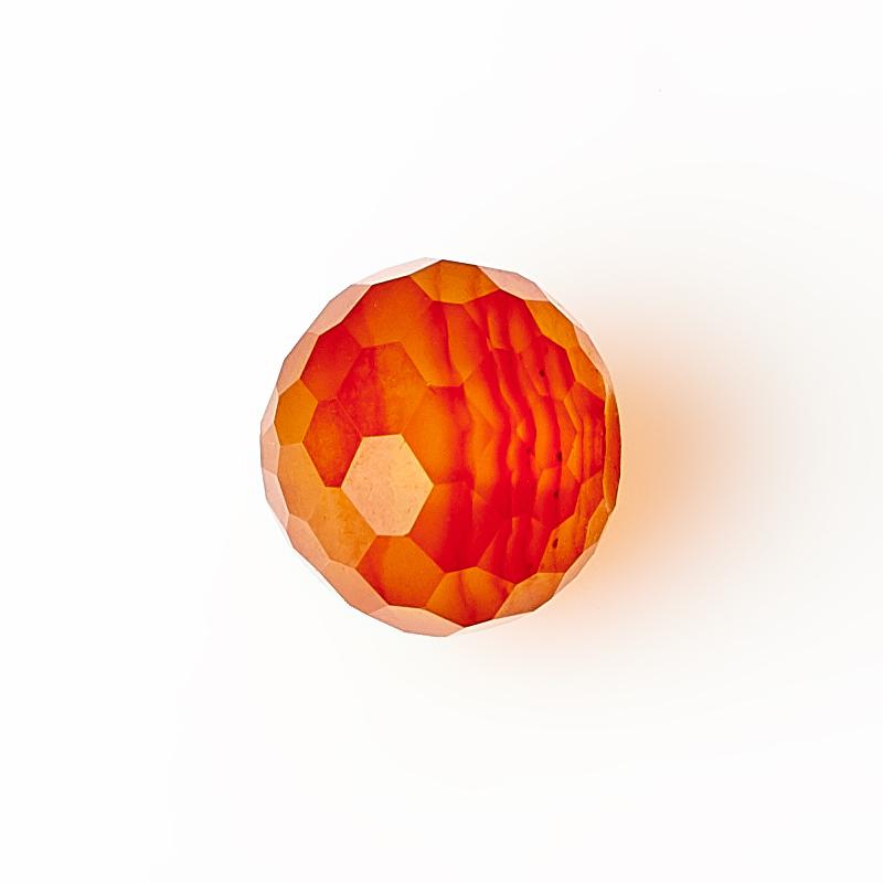 Бусина сердолик Ботсвана шарик 8 мм огранка (1 шт)