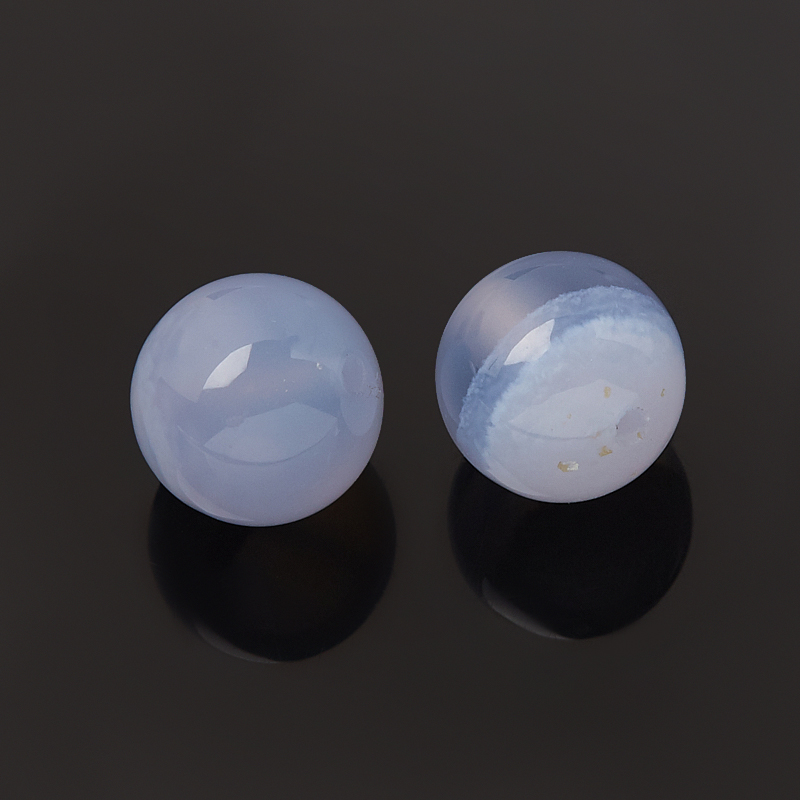 Бусина агат сапфирин Намибия шарик 8-8,5 мм (1 шт)