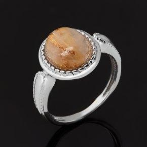 Кольцо рутиловый кварц Бразилия (серебро 925 пр. родир. бел.) размер 16,5
