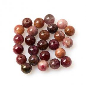 Бусина турмалин розовый (рубеллит) Бразилия шарик 6-6,5 мм (1 шт)