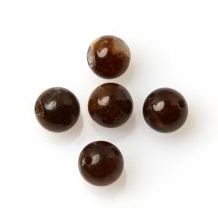 Бусина турмалин коричневый (дравит) Бразилия шарик 6-6,5 мм (1 шт)
