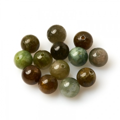 Бусина турмалин зеленый (верделит) Бразилия шарик 8-8,5 мм (1 шт)