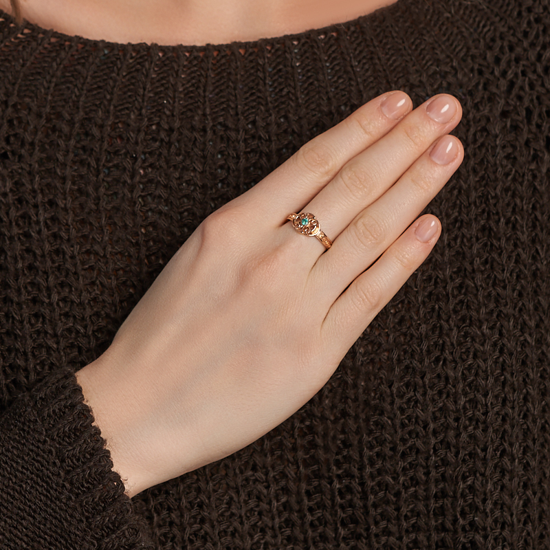 Кольцо изумруд Колумбия (серебро 925 пр. позолота) огранка Спаси и сохрани размер 17,5