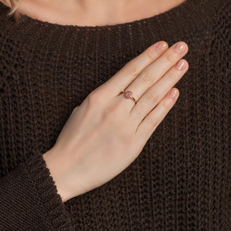 Кольцо рубин Мьянма (серебро 925 пр. позолота) огранка Спаси и сохрани размер 16,5