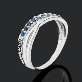 Кольцо сапфир черный Индия (серебро 925 пр. оксидир.) огранка Спаси и сохрани размер 16