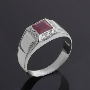 Кольцо рубин Мьянма (серебро 925 пр. родир. бел.) огранка размер 20,5