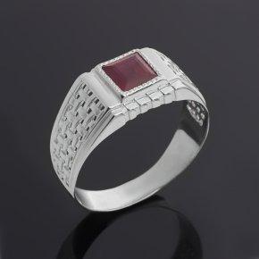 Кольцо рубин Мьянма (серебро 925 пр. родир. бел.) огранка размер 20