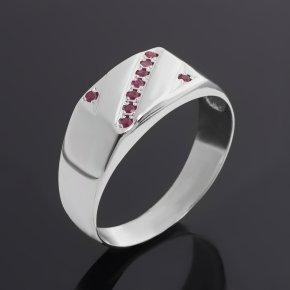 Кольцо рубин Мьянма (серебро 925 пр. родир. бел.) огранка размер 21
