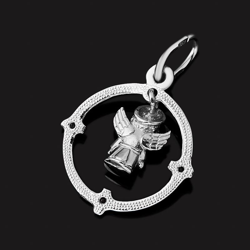 Кулон сапфир Индия огранка (серебро 925 пр. родир. бел.)