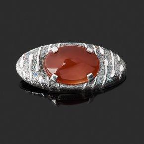 Брошь сердолик Индия (серебро 925 пр. оксидир.)