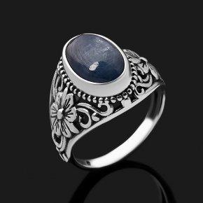 Кольцо кианит синий Бразилия (серебро 925 пр. оксидир.) размер 17