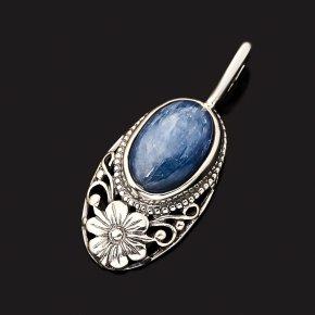 Кулон кианит синий Бразилия (серебро 925 пр. оксидир.)