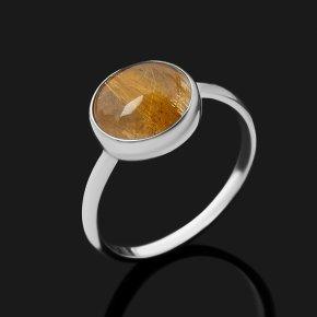 Кольцо рутиловый кварц ЮАР (серебро 925 пр.) размер 17,5