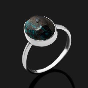 Кольцо хризоколла Конго (серебро 925 пр.) размер 18