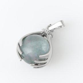 Кулон флюорит зеленый (биж. сплав) 3,5 см