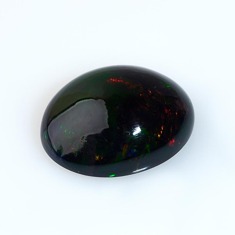 Кабошон опал благородный черный  12*15 мм (1 шт)