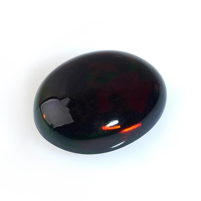Кабошон опал благородный черный  11*14 мм (1 шт)