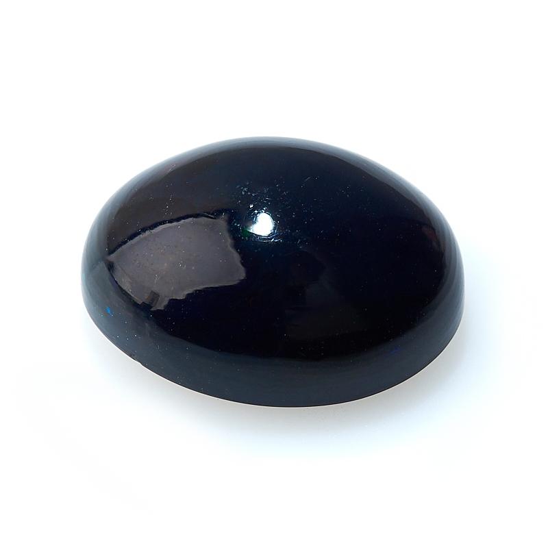 Кабошон опал благородный черный Эфиопия 11*14 мм (1 шт)