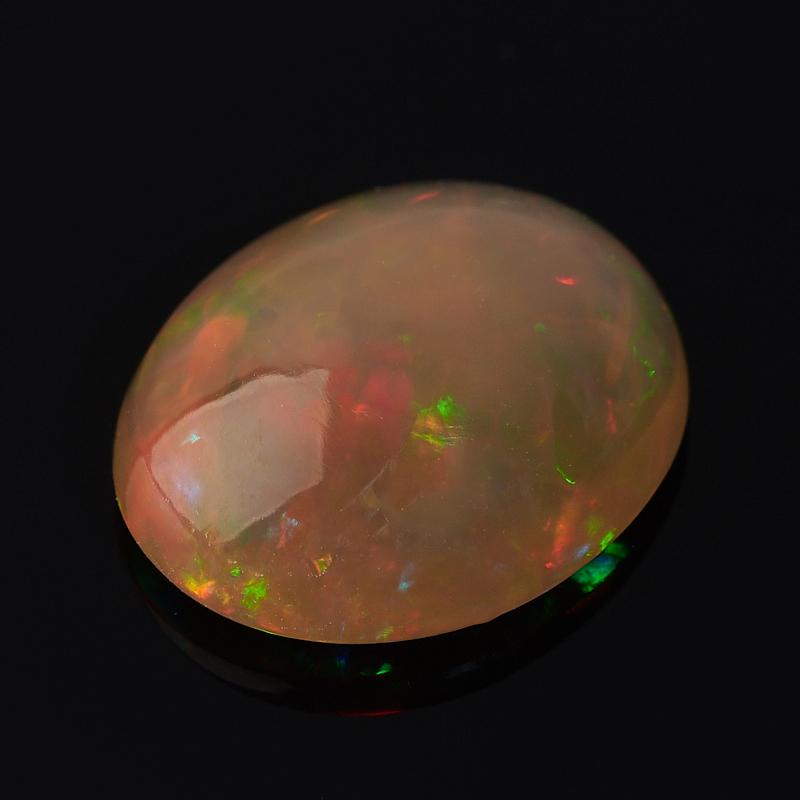 Кабошон опал благородный огненный Эфиопия 9*12 мм (1 шт)