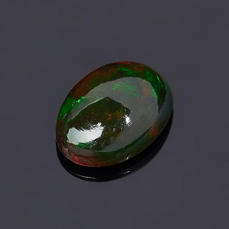 Кабошон опал благородный черный Эфиопия 4*6 мм (1 шт)